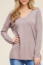 LuLu's Boutique Simple V-Neck Sweater - Product Mini Image