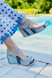 Pedro Garcia Simple Wedge Sandal - Front cropped