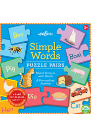 Eeboo Simple Word Puzzle Pairs - Product Mini Image