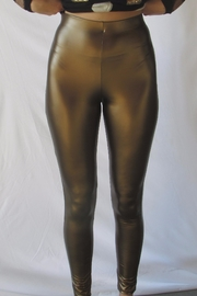 simple the label Gold Pu Legging - Product Mini Image