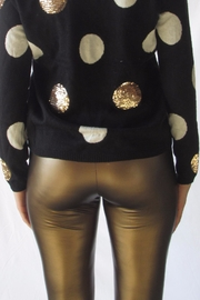 simple the label Gold Pu Legging - Front full body