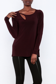 Simpli Plum Cutout Top - Product Mini Image