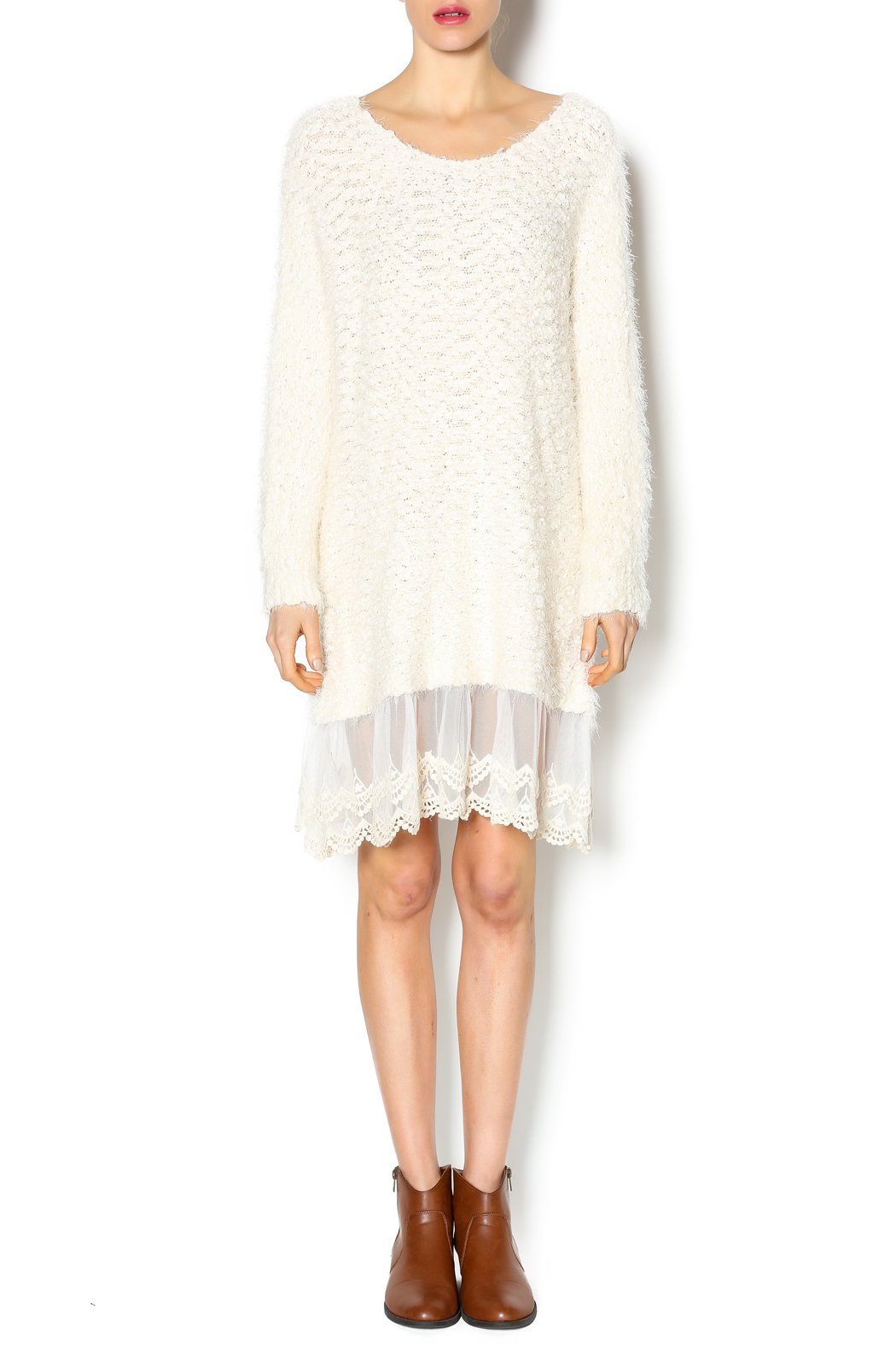 Simply dena sweater lace dress from colorado shoptiques for Sweater over wedding dress