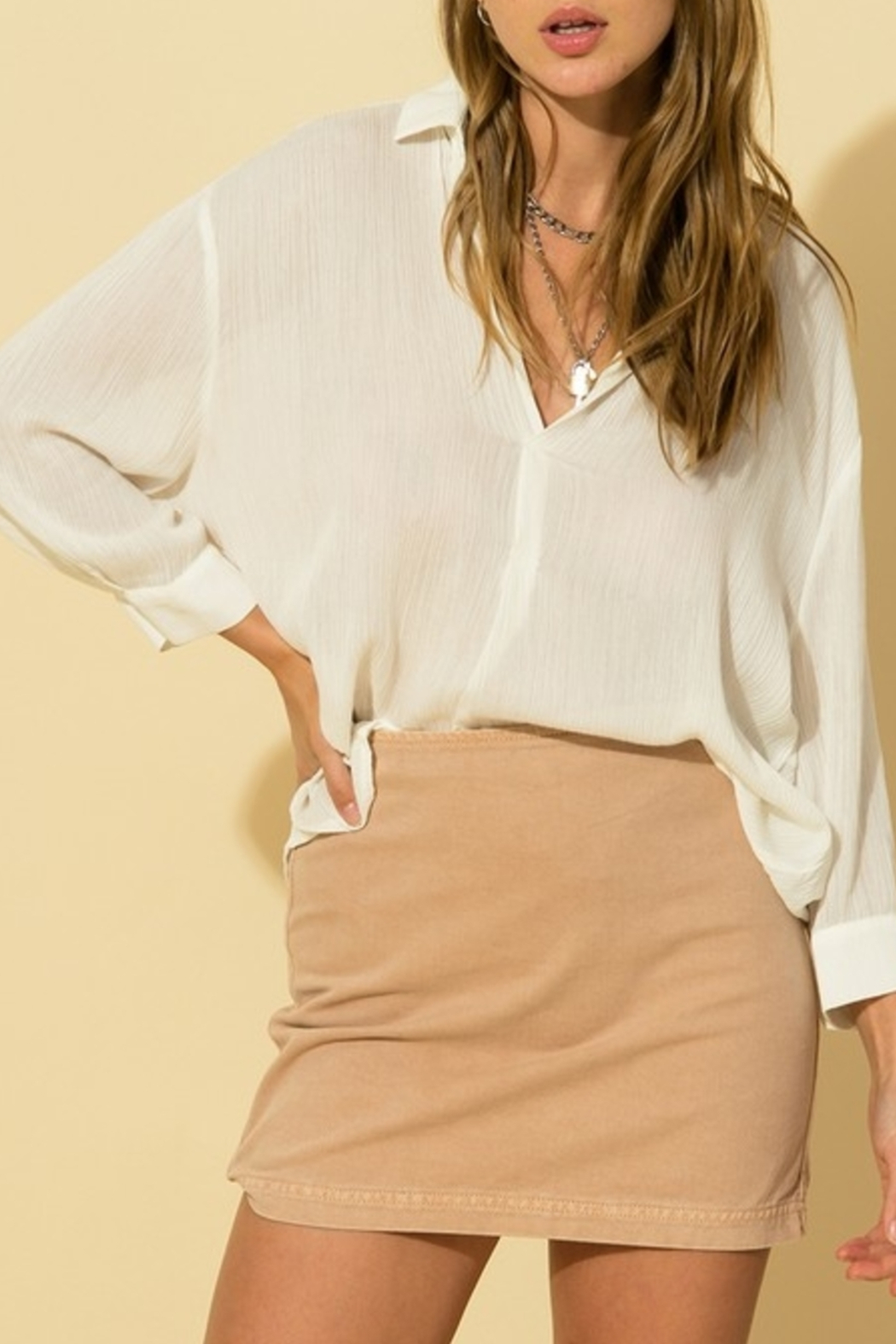 HYFVE Simply For Everyday Top - Front Cropped Image