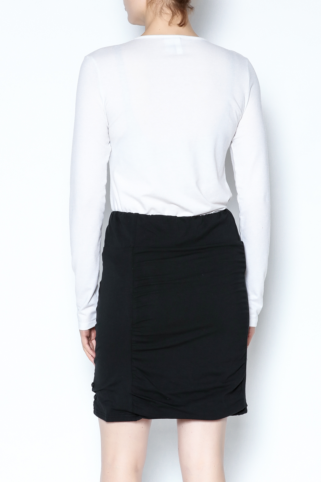 Simply Noelle Adjustable Button Skirt - Back Cropped Image