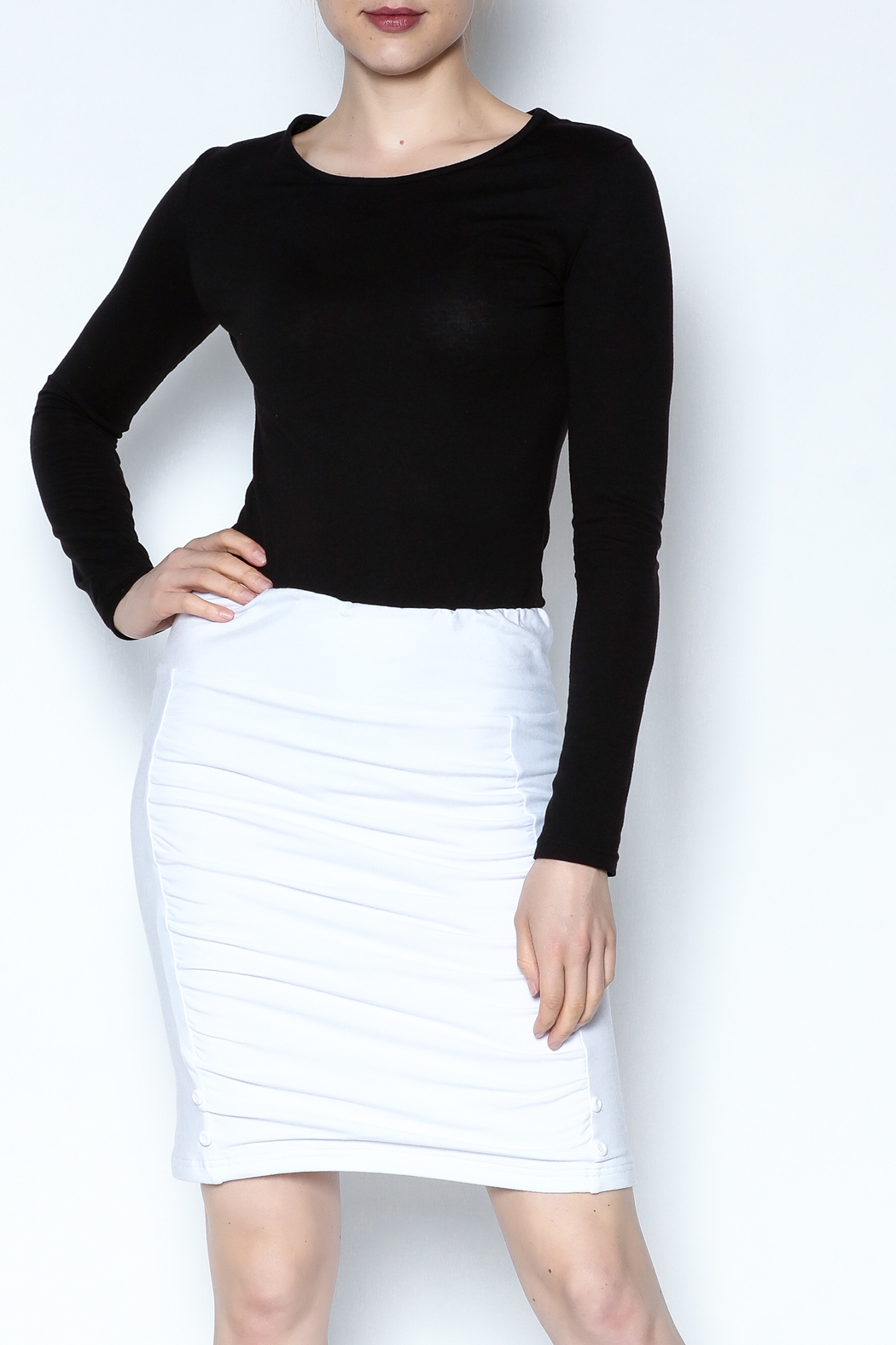 Simply Noelle Adjustable Button Skirt - Main Image