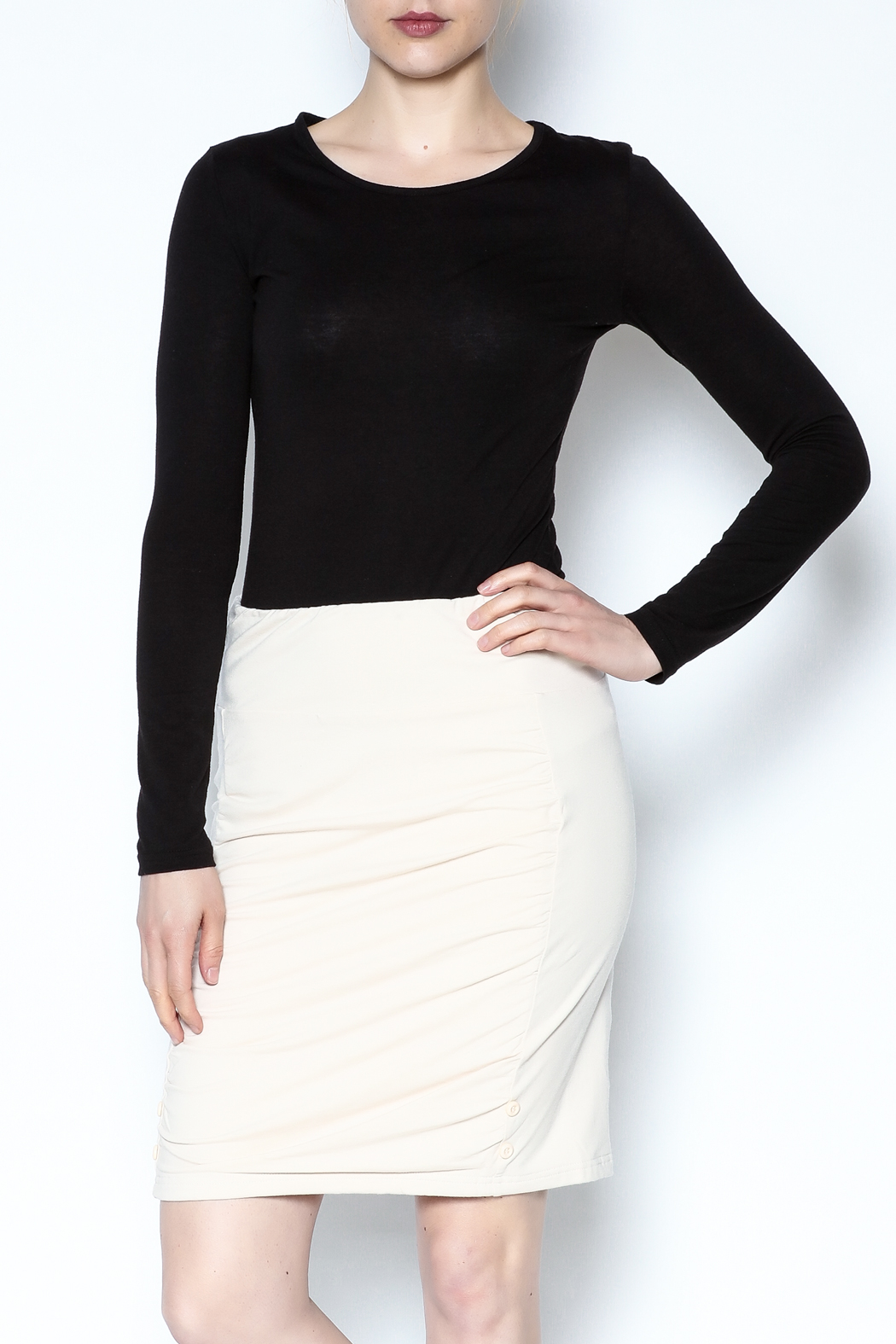 Simply Noelle Adjustable Button Skirt - Front Full Image