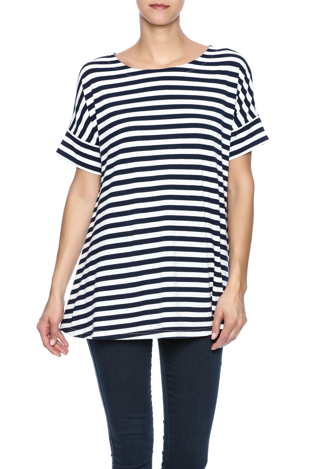 Simply Noelle Nautical Striped Tunic - Main Image