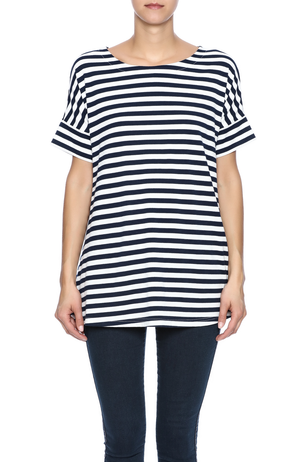 Simply Noelle Nautical Striped Tunic - Side Cropped Image