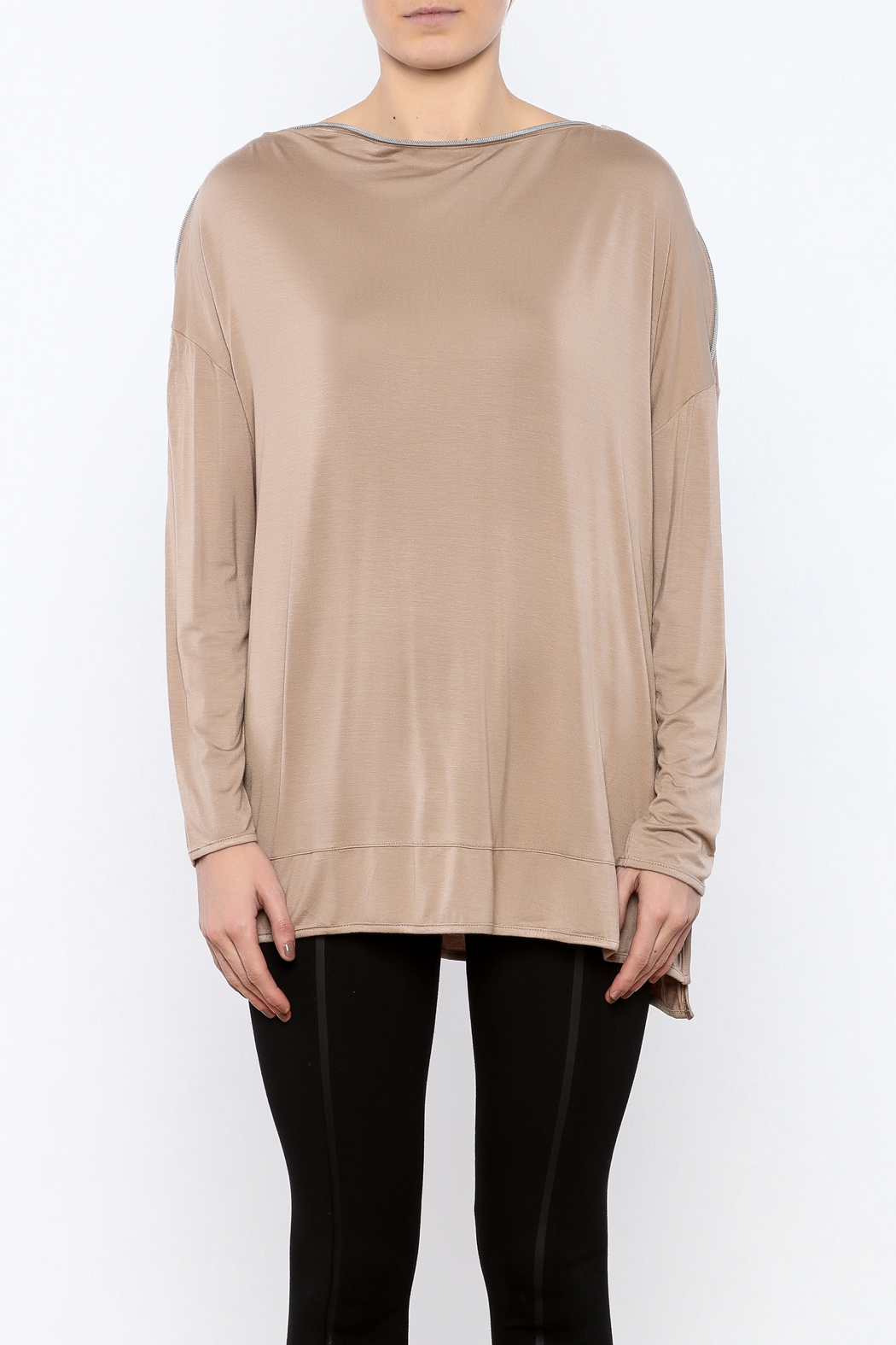Simply Noelle Zipper Neck Top - Side Cropped Image