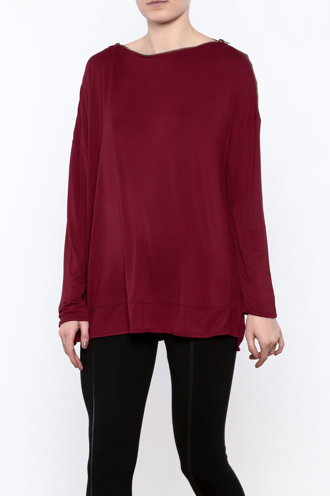 Simply Noelle Zipper Neck Top - Main Image