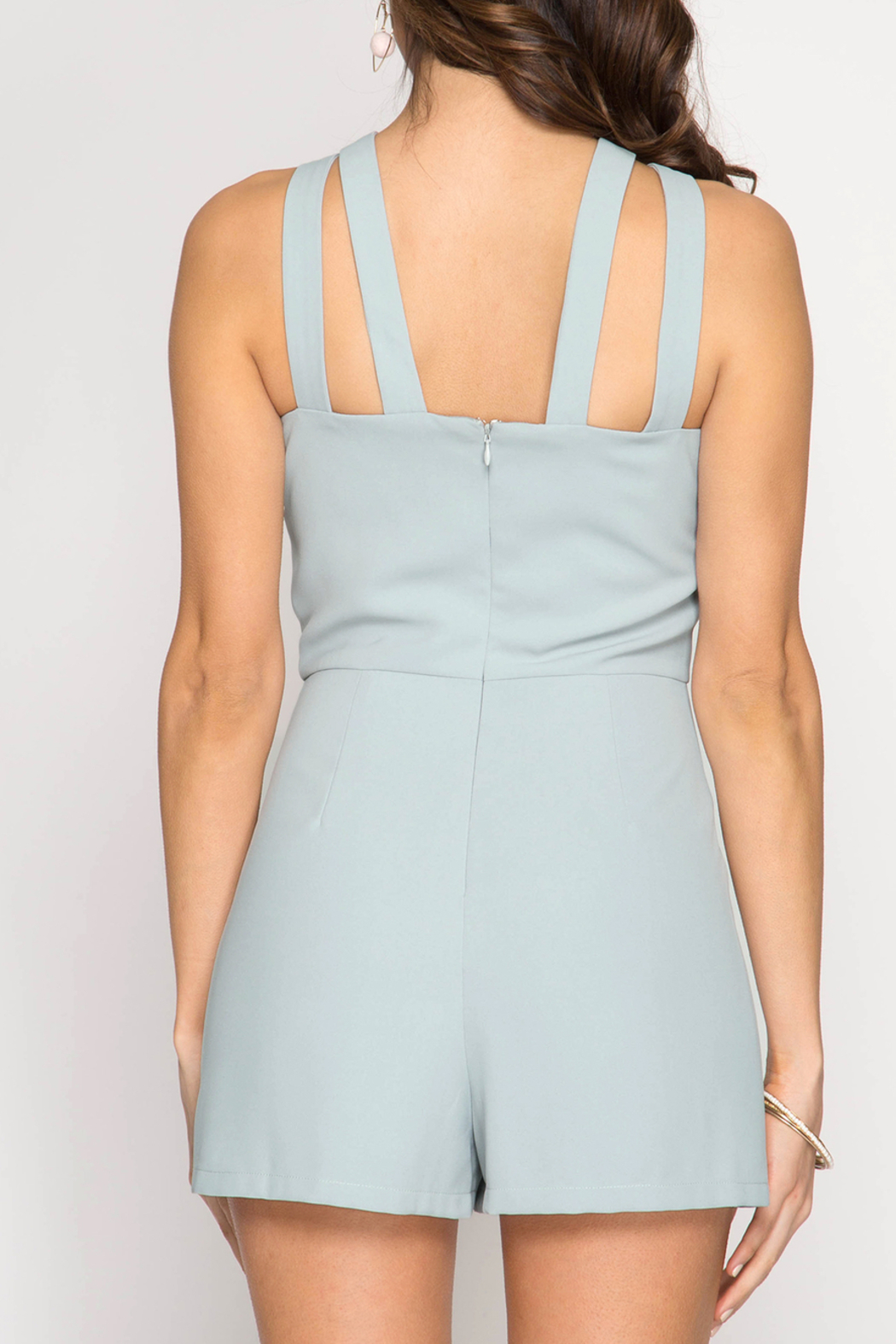 She + Sky Simply Stunning romper - Front Full Image