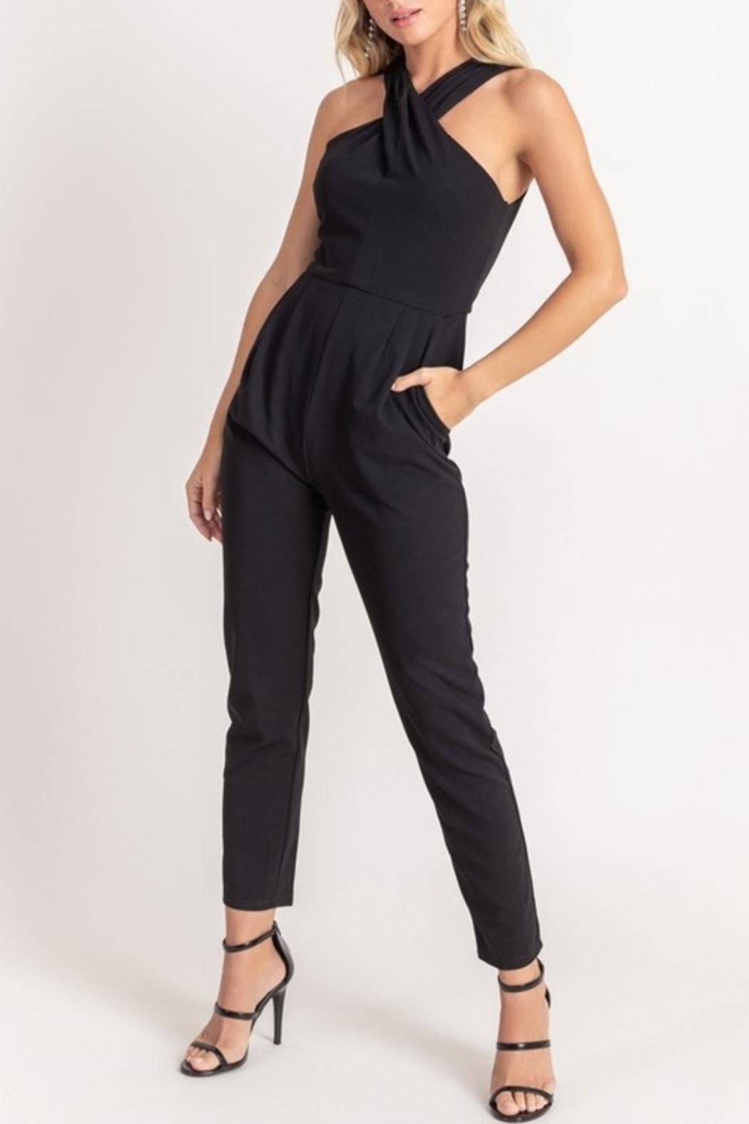 Lush  Simply Stylish Jumpsuit - Front Cropped Image