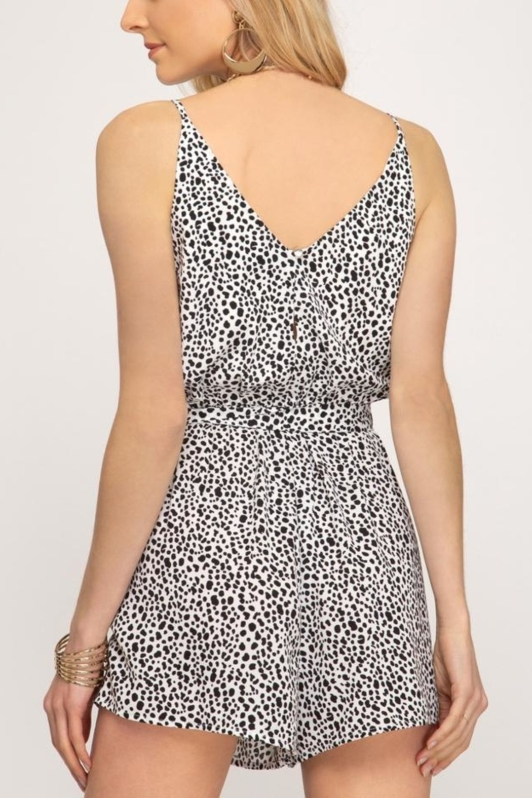 She & Sky  Simply Wild romper - Front Full Image
