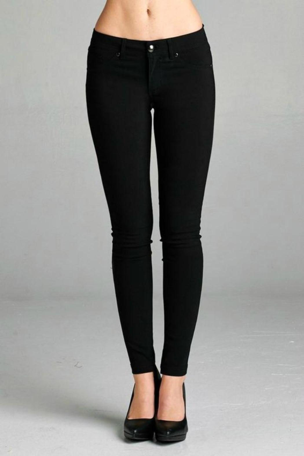 Simply Chic Basic Stretch Pants - Front Cropped Image