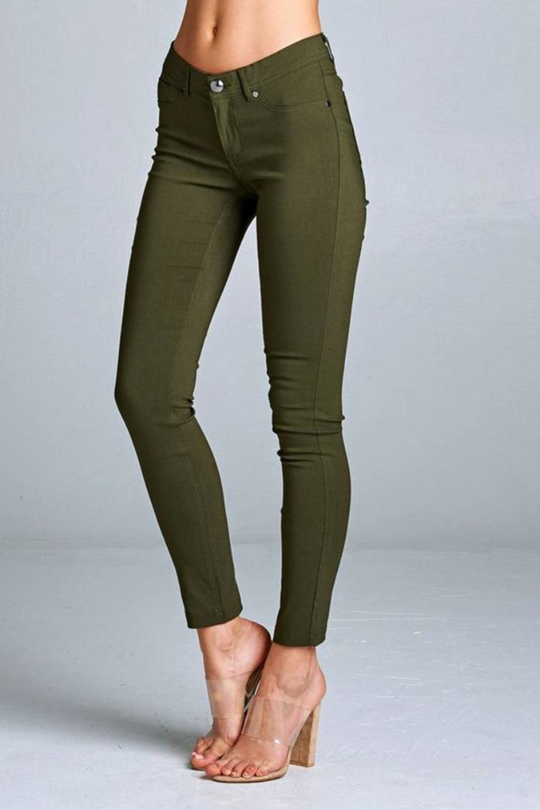 Simply Chic Basic Stretch Pants - Main Image