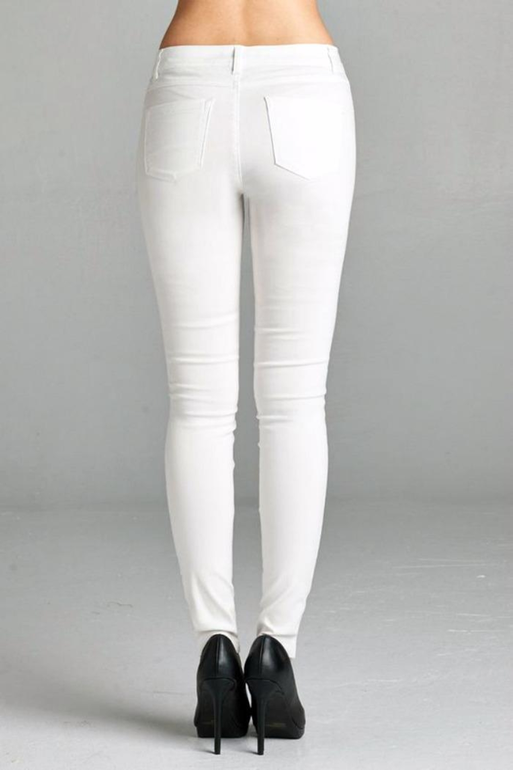 Simply Chic Basic Stretch Pants - Front Full Image