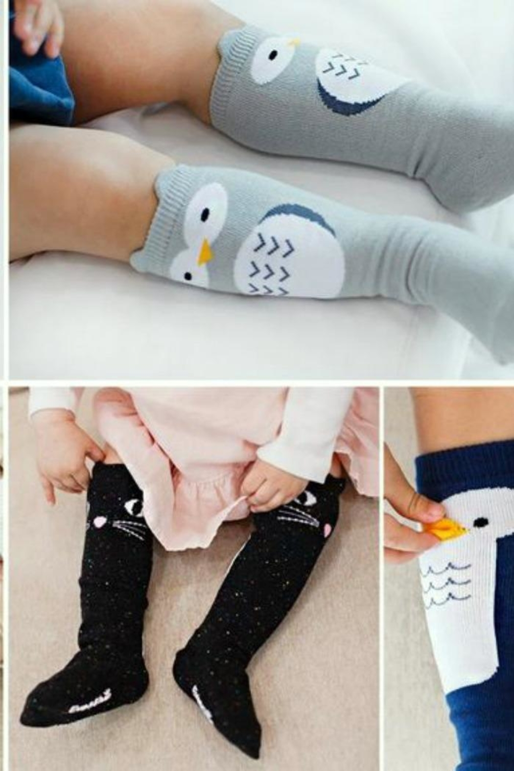 Simply Chic Cat Knee Socks - Front Full Image