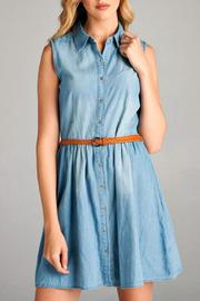 Simply Chic Chambray Shirt Dress - Product Mini Image