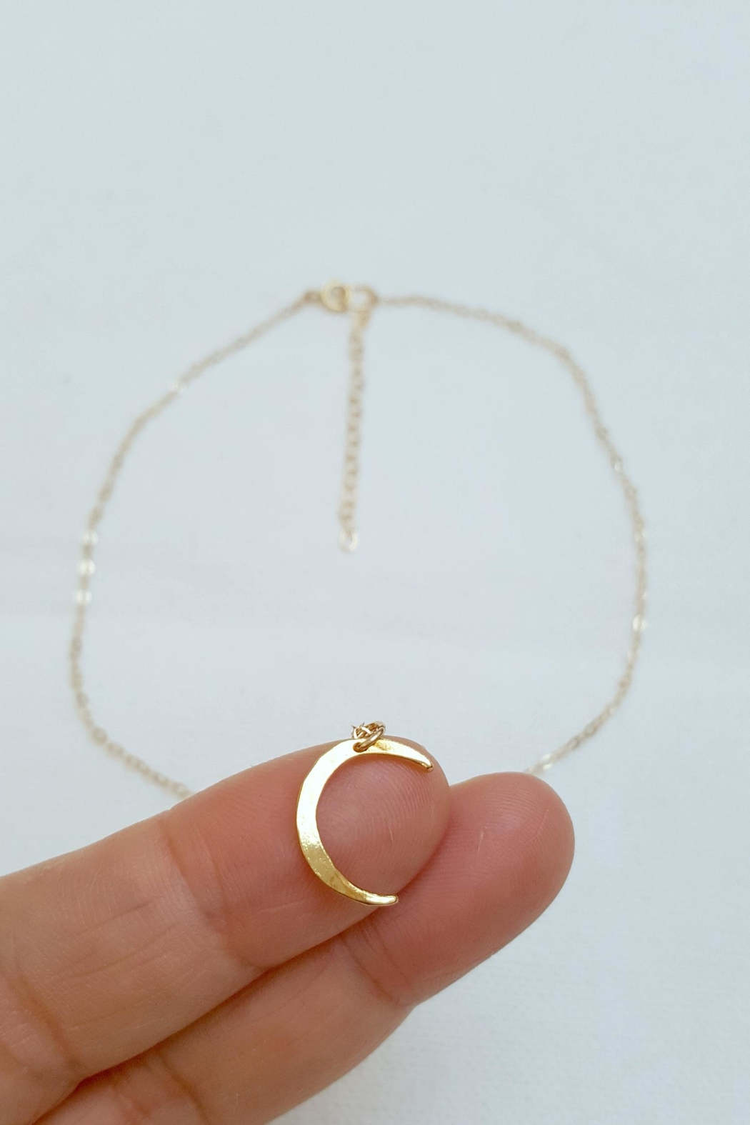 Simply Chic Crescent Moon Necklace - Front Full Image