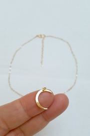 Simply Chic Crescent Moon Necklace - Front full body