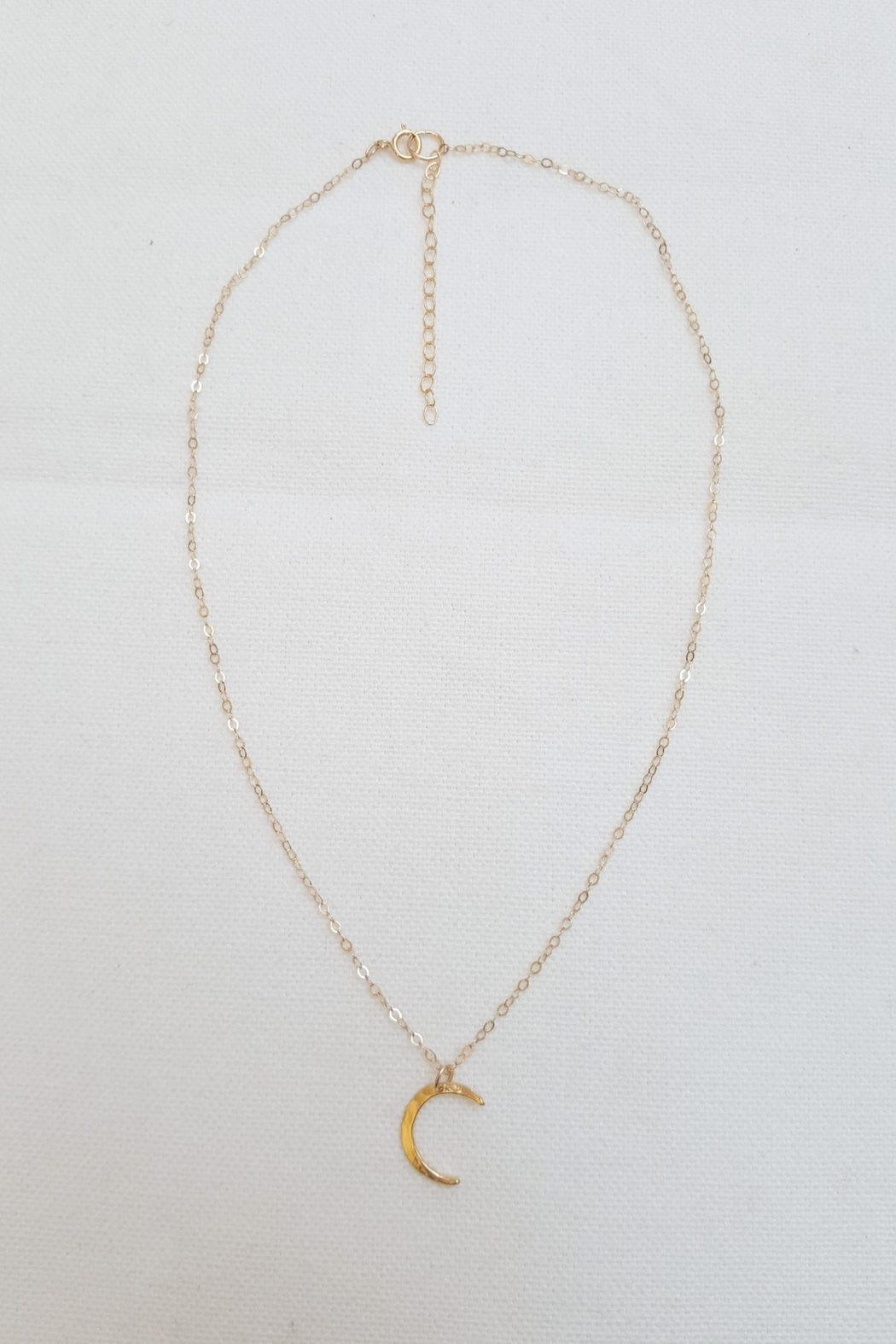 Simply Chic Crescent Moon Necklace - Front Cropped Image