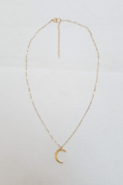 Simply Chic Crescent Moon Necklace - Front cropped