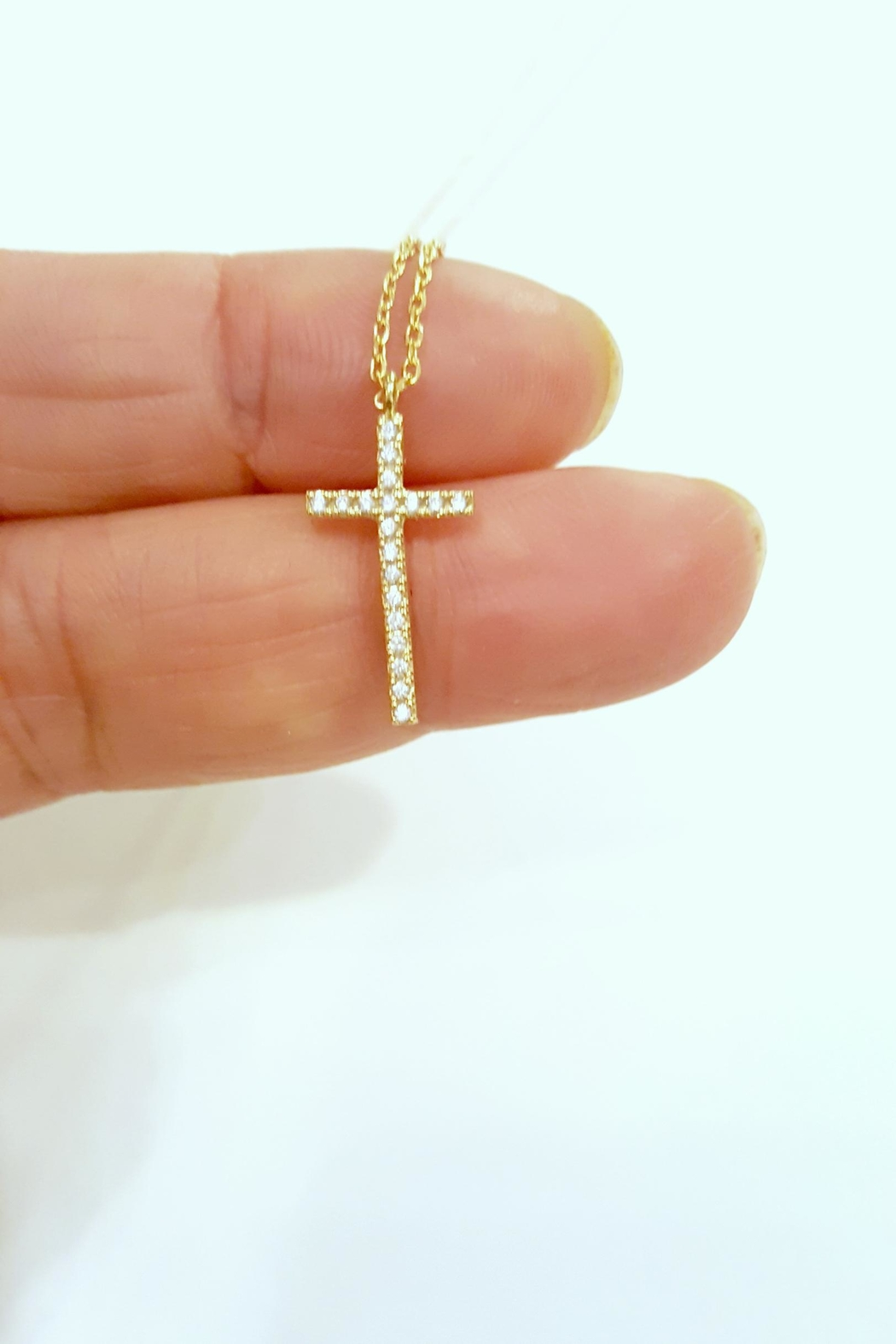 Simply Chic Cz Cross Necklace - Front Cropped Image