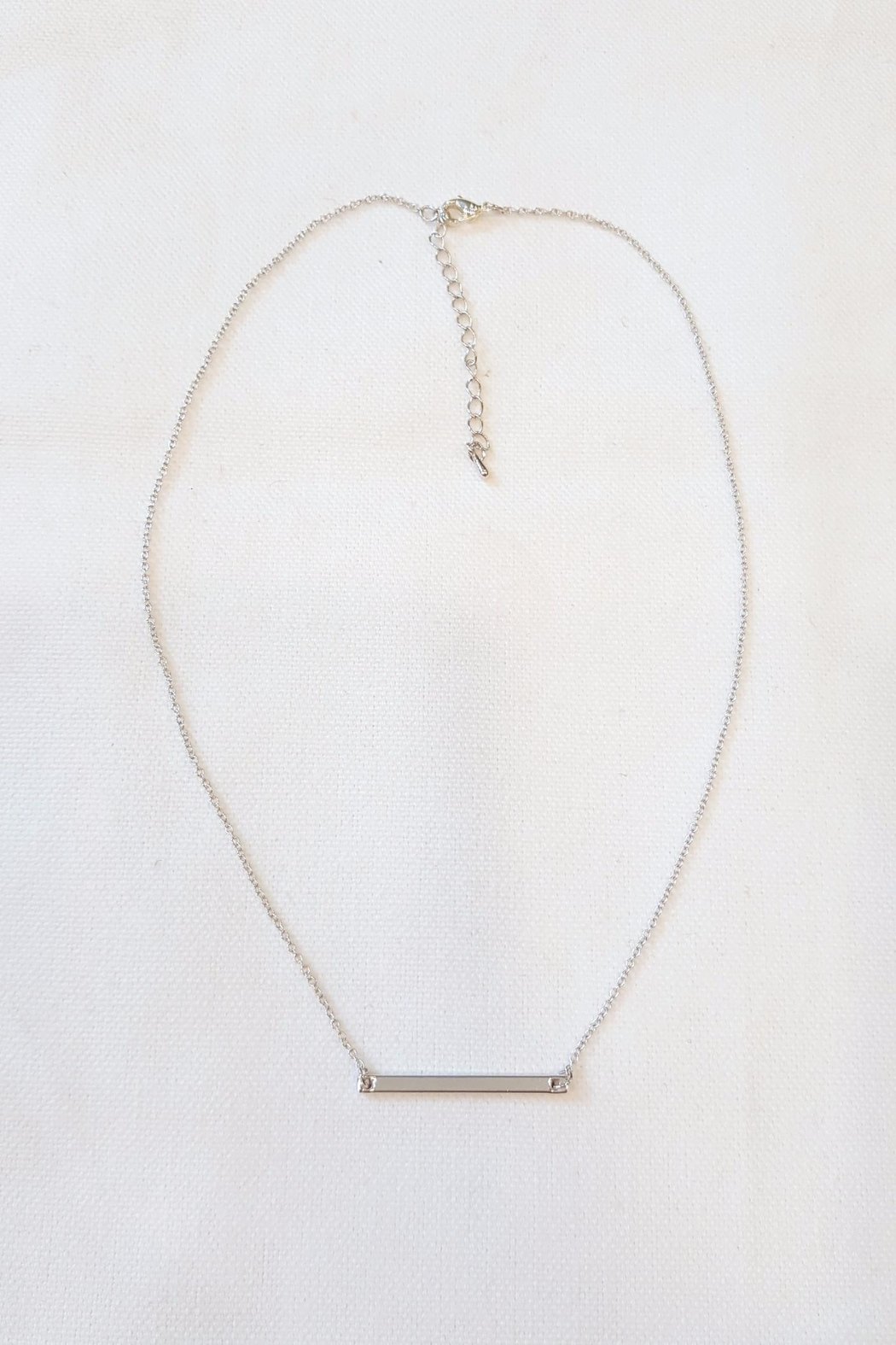 Simply Chic Delicate Bar Necklace - Main Image