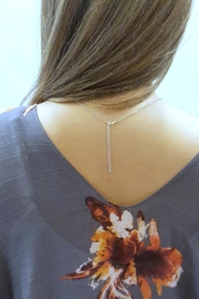 Simply Chic Delicate Bar Necklace - Front full body