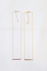 Simply Chic Delicate Bar Necklace - Other