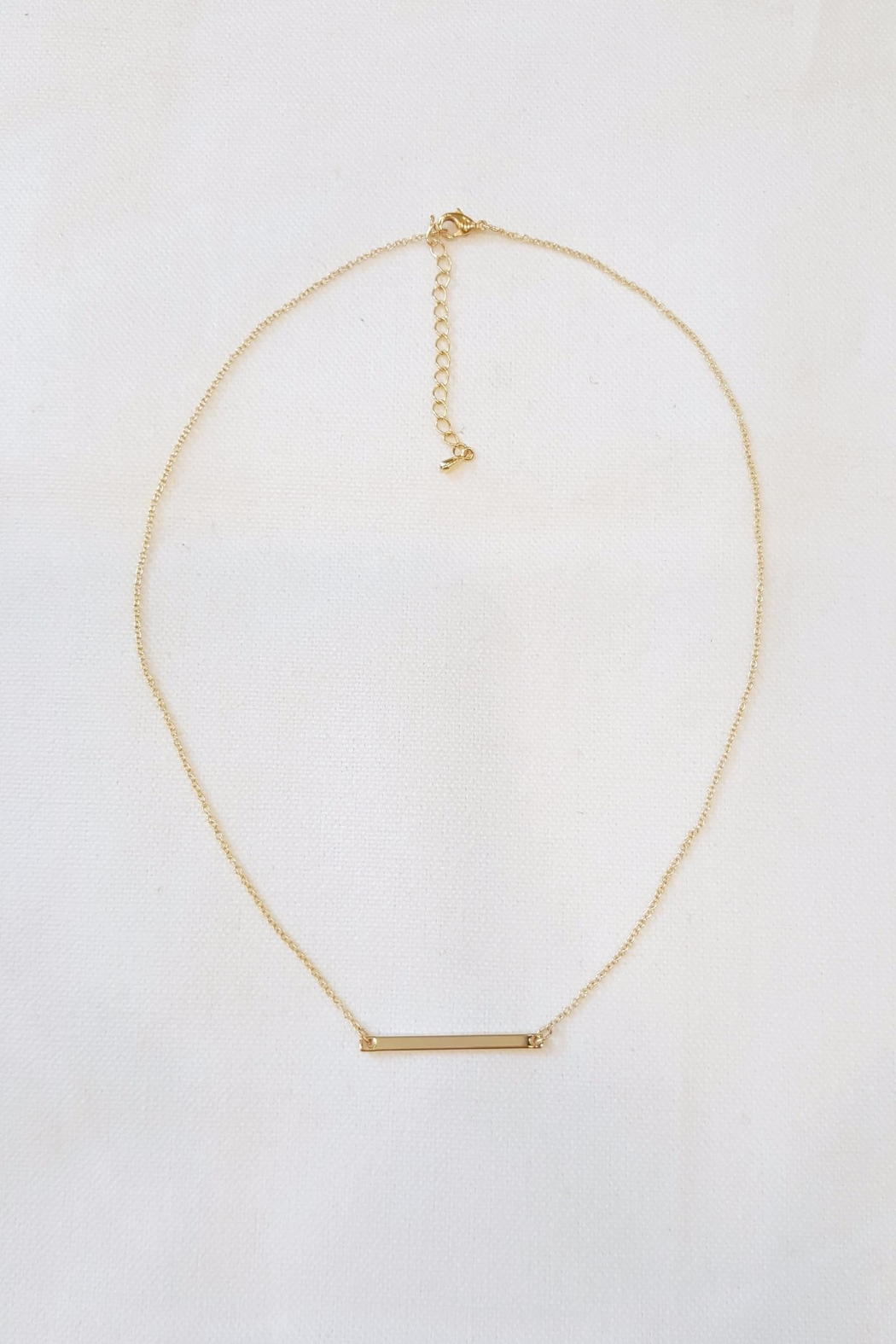 Simply Chic Delicate Bar Necklace - Side Cropped Image