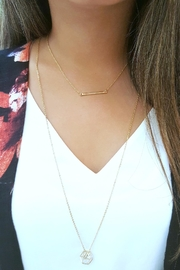 Simply Chic Delicate Bar Necklace - Back cropped