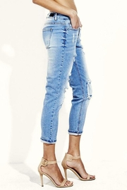 Simply Chic Distressed Boyfriend Jeans - Side cropped