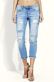 Simply Chic Distressed Boyfriend Jeans - Product Mini Image
