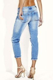 Simply Chic Distressed Boyfriend Jeans - Front full body