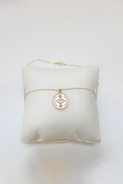 Simply Chic Evil-Eye Gold Necklace - Product List Image
