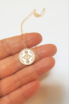 Simply Chic Evil-Eye Gold Necklace - Alternate List Image