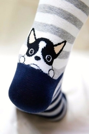 Simply Chic French Bulldog Socks - Front full body