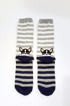 Simply Chic French Bulldog Socks - Product List Image