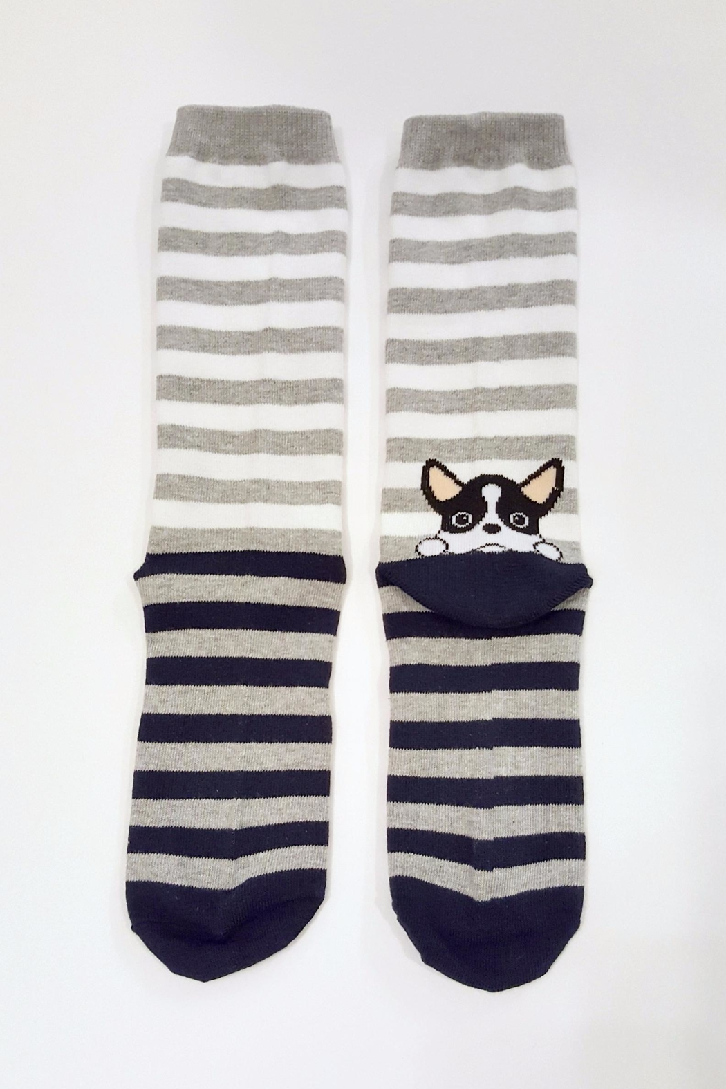 Simply Chic French Bulldog Socks - Side Cropped Image