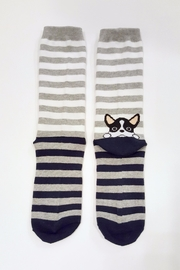Simply Chic French Bulldog Socks - Side cropped
