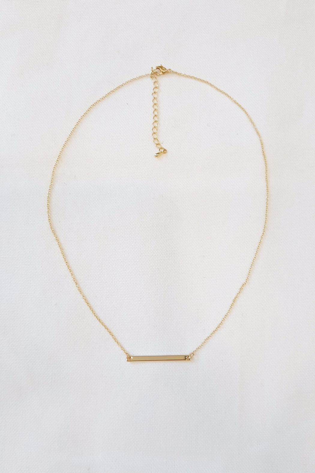 Simply Chic Gold Bar Necklace - Main Image
