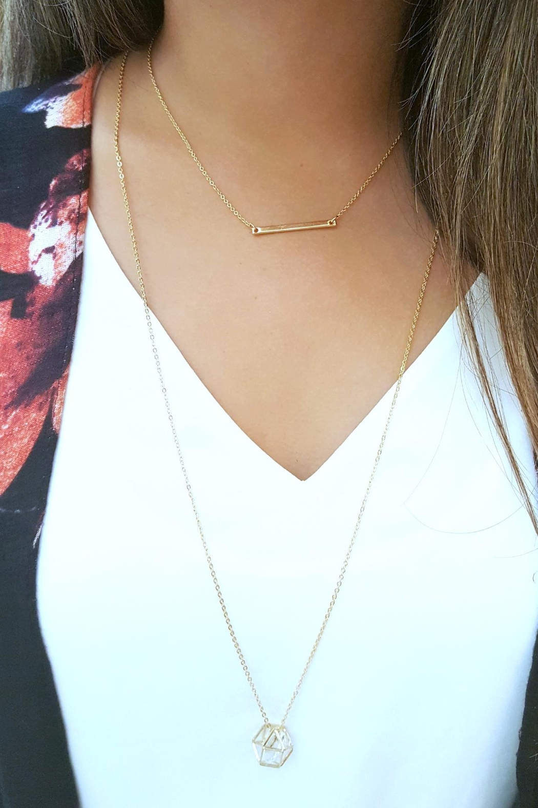 Simply Chic Gold Bar Necklace - Side Cropped Image