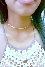 Simply Chic Gold Coin Choker - Front full body