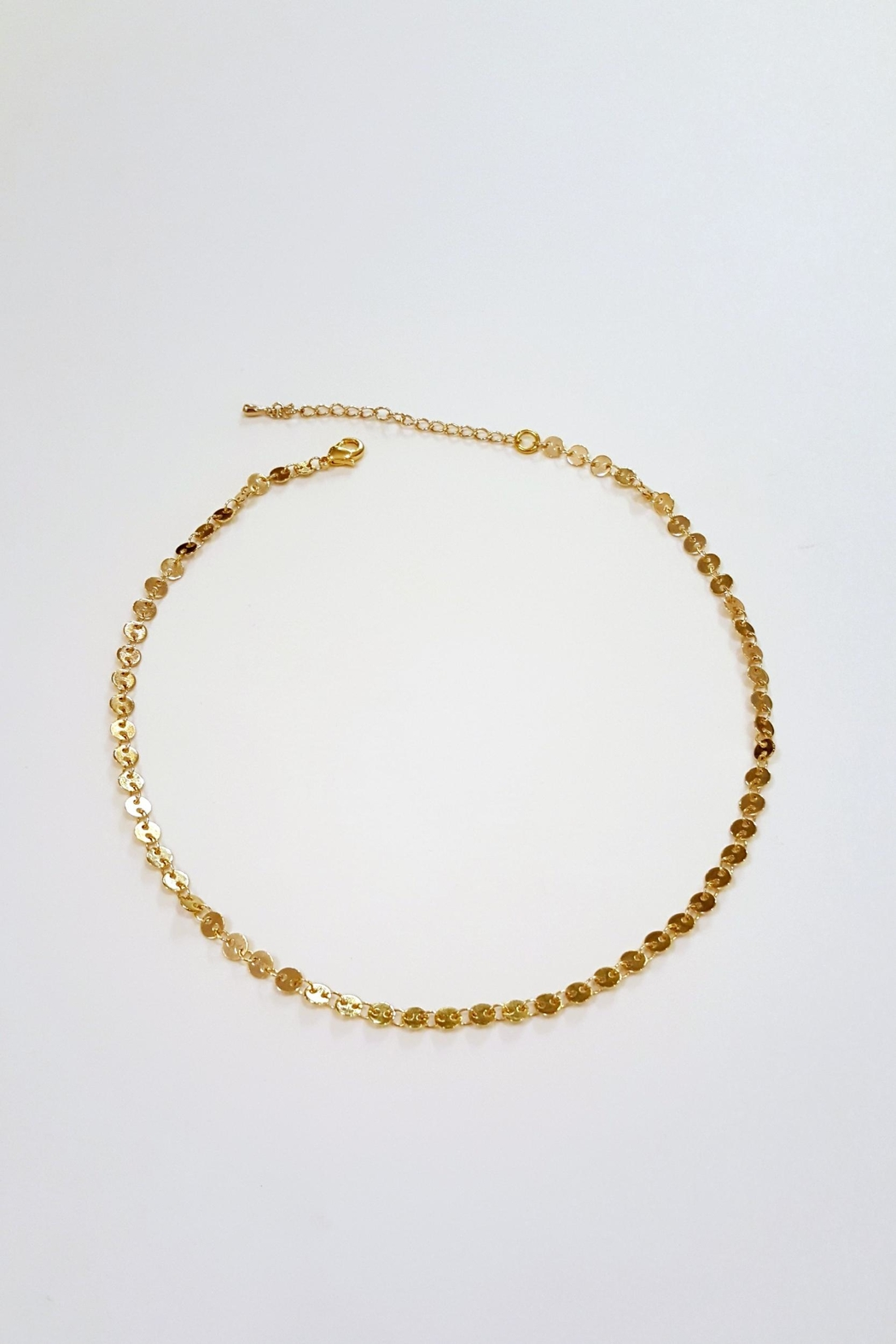 Simply Chic Gold Coin Choker - Main Image