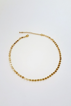 Simply Chic Gold Coin Choker - Product List Image