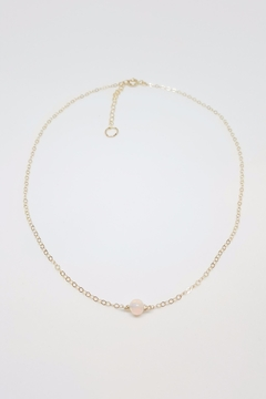 Simply Chic Gold Opal Necklace - Product List Image