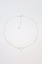 Simply Chic Gold Open Circle Necklace - Product Mini Image