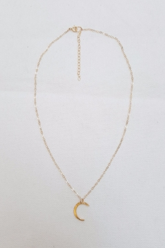 Simply Chic Hammered Crescent Necklace - Product List Image